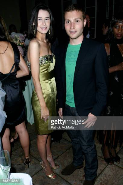 Samantha Lynch and David Chines attend The YOUNG PATRONS CIRCLE of AMERICAN FRIENDS Hosts SOIREE AU LOUVRE at Payne Whitney Mansion on June 3 2010