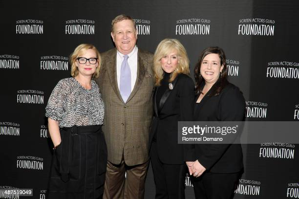 Samantha Mathis Ken Howard Judith Light and Rebecca Damon attend the 'Stars Turn Out For The Opening Of SAG Foundation Actors Center' on April 30...