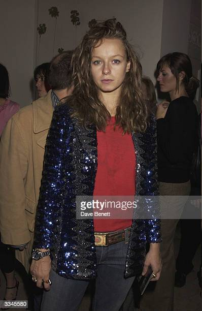 Samantha Morton attends Jay Joplin's White Cube party at Sketch after the opening gala of the Freeze Art in Regents Park on October 17 2003 in London