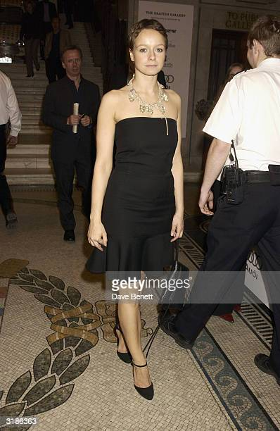 Samantha Morton attends the Saatchi Gallery Opening in County Hall on April 16 2003 in London