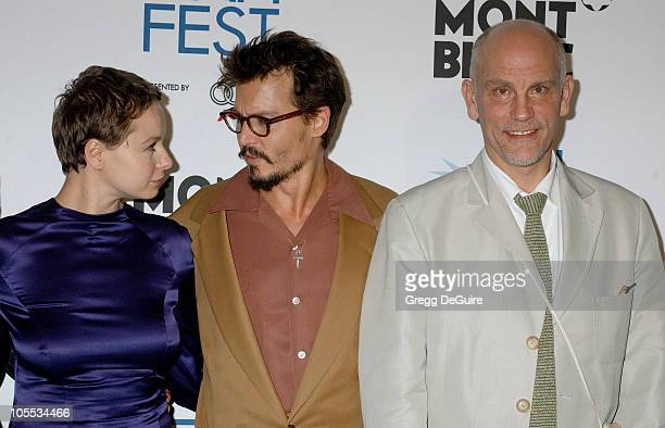 Samantha Morton Johnny Depp and John Malkovich during The Weinstein Company's 'The Libertine' World Premiere Screening Arrivals at ArcLight Hollywood...