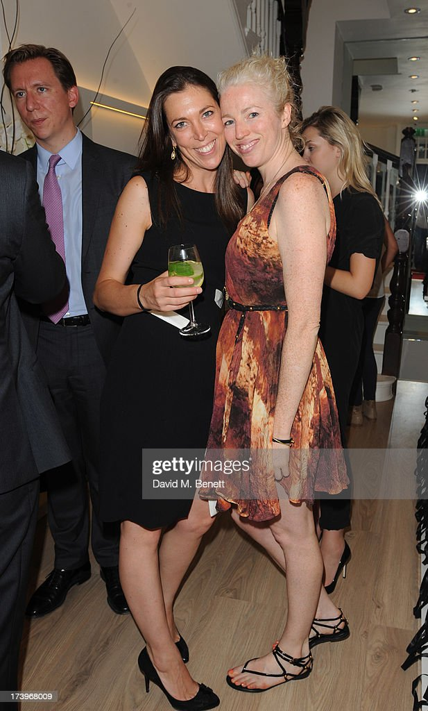 Samantha Mueller Knab and Emma Whitehair attend Swiss luxury shoe brand Lele Pyp VIP London store launch party on July 18, 2013 in London, England.