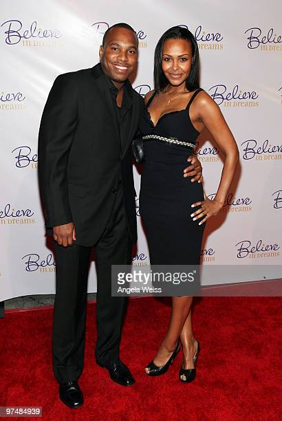 Samantha Mumba and guest attend the 'Believe In Dreams' PreOscar party hosted by Chandler Lutz and Ernest Borgnine at Universal Studios on March 5...