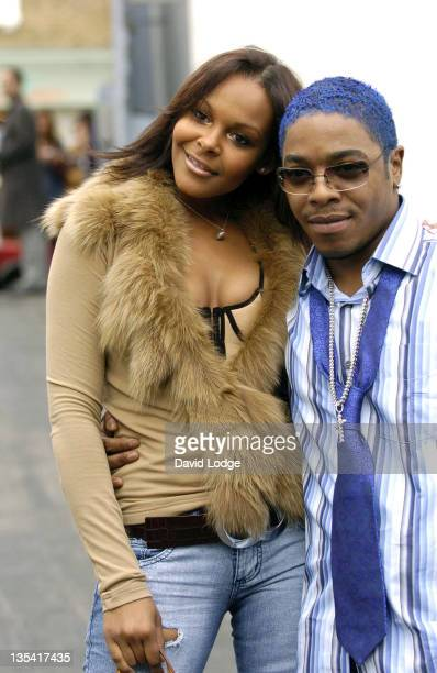 Samantha Mumba and Sisqo during London Fashion Week Spring 2005 Scott Henshall Arrivals at ExSaatchi Gallery in London Great Britain