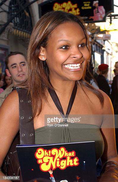 Samantha Mumba during Samantha Mumba Attends the Opening of 'Oh What A Night' at Gaeity Theatre in Dublin Ireland
