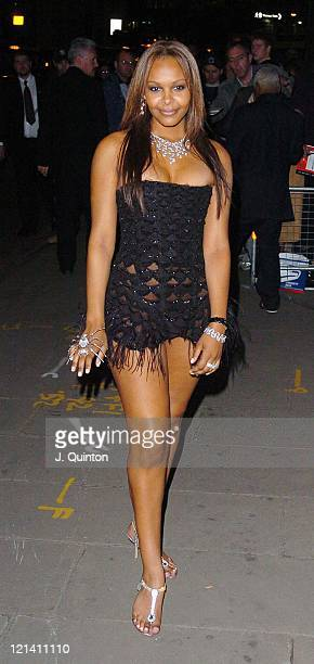 Samantha Mumba during 'SpiderMan 2' London Premiere After Party Outside Arrivals at Old Billingsgate Market in London Great Britain