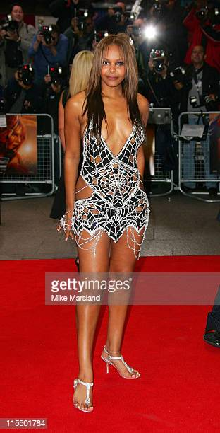 Samantha Mumba during 'SpiderMan 2' London Premiere Arrivals at Leicester Square in London Great Britain