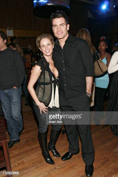Samantha Prestley and Aiden Turner during Helio and The Daily Hold a New York Fashion Week KickOff Party at Marquee in New York City New York United...