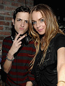 NEW YORK FEBRUARY 13 DJ Samantha Ronson and Lindsay Lohan attend the Charlotte Ronson After Party hosted by Smartwater at The Eldridge on February 13...