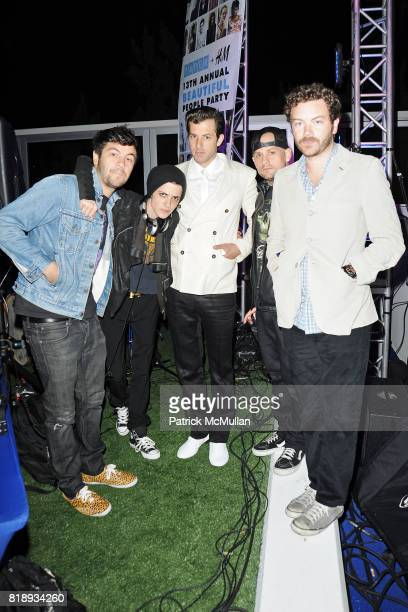 Samantha Ronson Benji Madden and Danny Masterson attend Paper Magazine Beautiful People Party at The Standard Hotel on May 14 2010 in Hollywood CA