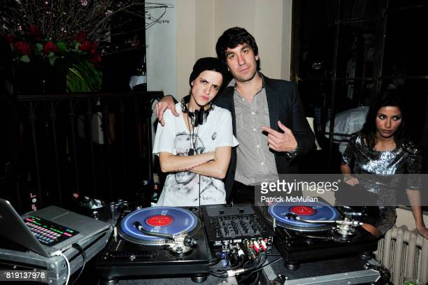 Samantha Ronson Brent Bolthouse attend NICOLAS BERGGRUEN's 2010 Annual Party at the Chateau Marmont on March 3 2010 in West Hollywood California