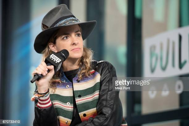 Samantha Ronson of Ocean Park Standoff discusses their debut EP at Build Studio on April 20 2017 in New York City