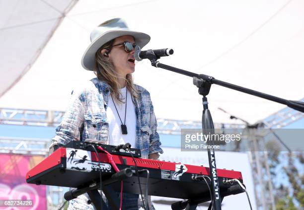 Samantha Ronson of Ocean Park Standoff performs osntage at the Village during 1027 KIIS FM's 2017 Wango Tango at StubHub Center on May 13 2017 in...