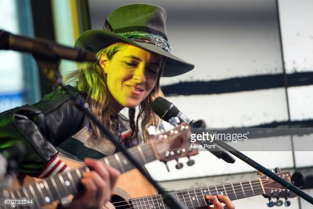 Samantha Ronson of the group Ocean Park Standoff Performs at Build Studio on April 20 2017 in New York City