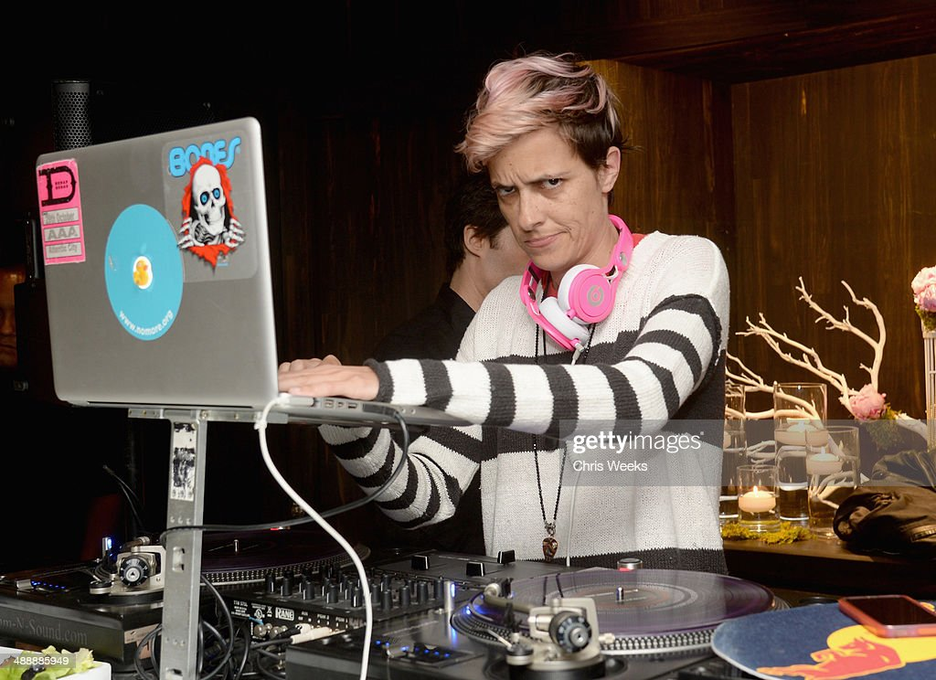DJ Samantha Ronson spins at Chrome Hearts & Kate Hudson Host Garden Party To Celebrate Collaboration at Chrome Hearts on May 8, 2014 in Los Angeles, California.