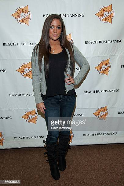 Samantha 'Sammi Sweetheart' Giancola visits Beach Bum Tanning Salon on January 12 2012 in Holmdel New Jersey