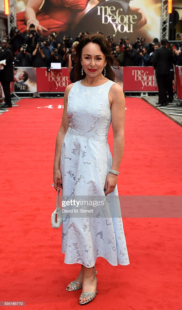 Samantha Spiro attends the European Premiere of 'Me Before You' at The Curzon Mayfair on May 25, 2016 in London, England.