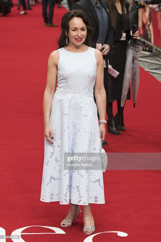 Samantha Spiro attends the film premiere of Me Before You in London, United Kingdom on May 25, 2016.