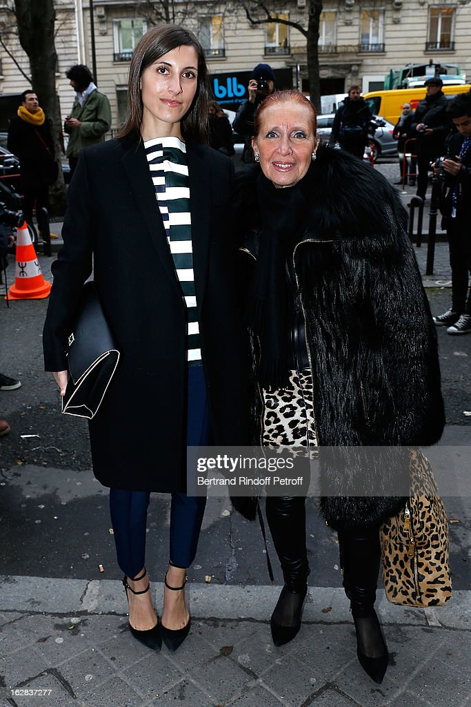 Samantha Steel and Danielle Steel attend the Balenciaga Fall/Winter 2013 Ready-to-Wear show as part of Paris Fashion Week on February 28, 2013 in Paris, France.