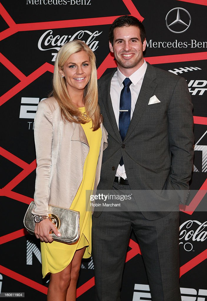 Samantha Steele and NFL player Christian Ponder attend ESPN The Magazine's 'NEXT' Event at Tad Gormley Stadium on February 1, 2013 in New Orleans, Louisiana.