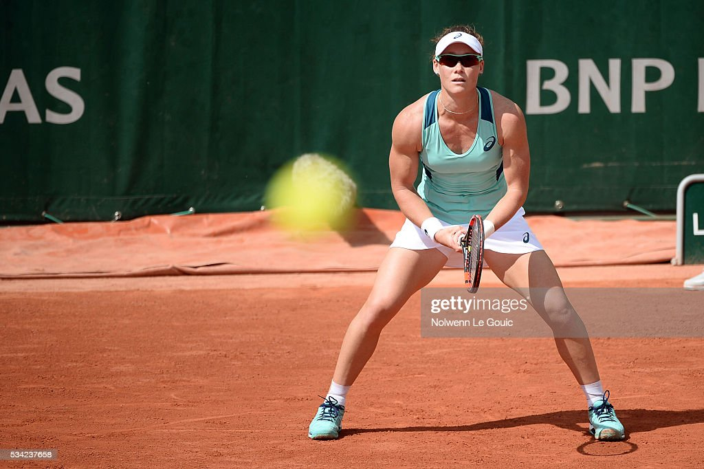 Samantha Stosur during the Women's Singles second round on day four of the French Open 2016 at Roland Garros on May 25, 2016 in Paris, France.