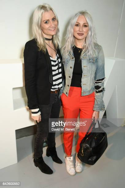 Samantha Teasdale and Lou Teasdale attend Nickelodeon's SpongeBob Gold launch party at LFW in collaboration with the LFW Design collective Pete...
