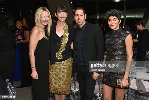 Samantha Tracy Miko McGinty Casey Kaplan and Golnaz Esmaili attend Abstracted Black Tie Dinner Hosted by Pamela Joyner Fred Giuffrida and the Ogden...