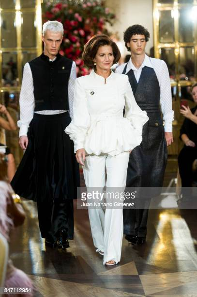 Samantha Vallejo Najera walks the runway at the Palomo Spain show during the MercedesBenz Fashion Week Madrid Spring/Summer 2018 on September 14 2017...
