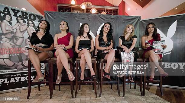 Samantha Vazquez Claudia Elias Maribel Zavala Gina Aguilar Ofelia Fernandez and Rosa Maria Arcos flight attendants with Mexicana Airlines pose for...