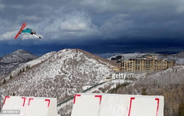 Samantha Wells of Australia competes during qualifying for the Womens Aerials at the FIS Freestyle Ski World Cup Aerial Competition at Deer Valley on...
