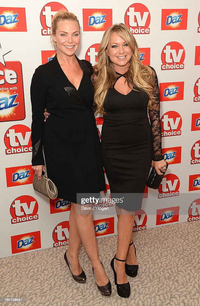 Samantha Womack and Rita Simons attend the TV Choice Awards 2013 at The Dorchester on September 9, 2013 in London, England.