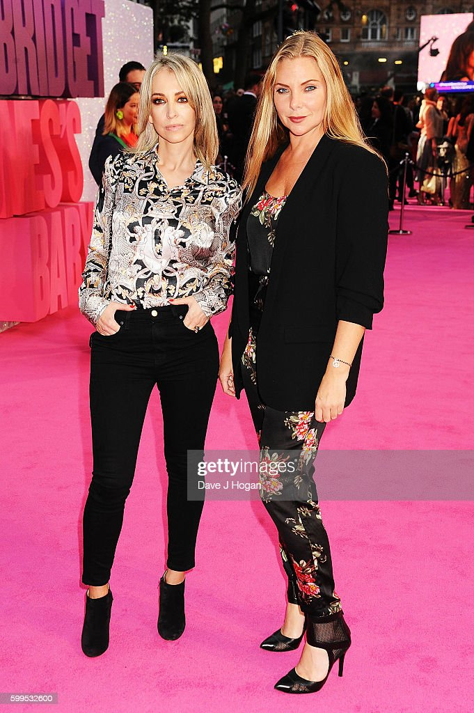 Samantha Womack (R) arrives for the world premiere of 'Bridget Jones's Baby' at Odeon Leicester Square on September 5, 2016 in London, England.