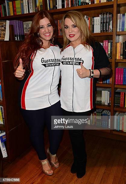 Samar Yorde and Ednita Nazario attend Laura Posada book signing 'La dieta mental' at Books and BooksGables on June 4 2015 in Coral Gables Florida