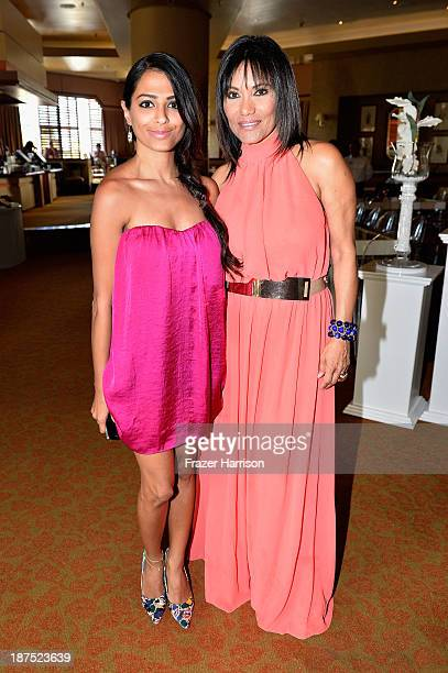 Samar Zaman and Founder and Managing Director for Aruba In Style Eva Wever attend High Tea at Pago Pago at Westin Aruba Resort on November 9 2013 in...