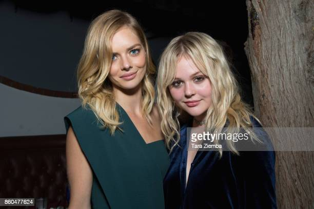 Samara Weaving and Emily Alyn Lind attend the premiere of Netflix's 'The Babysitter' on October 11 2017 in Los Angeles California