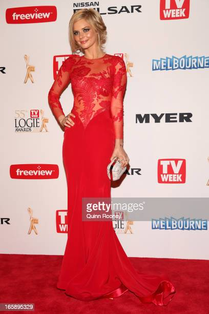 Samara Weaving arrives at the 2013 Logie Awards at the Crown Palladium on April 7 2013 in Melbourne Australia
