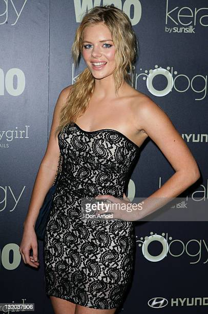 Samara Weaving attends the WHO 'Sexiest People' Party at The Great Hall University of Sydney on November 10 2011 in Sydney Australia