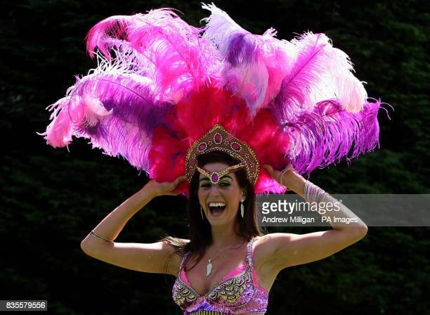 Samba dancer Georgina Anderson from dance troupe Eletricat during a photocall in Sauchiehall Street Glasgow to promote Scotland's Mardi Gras and...