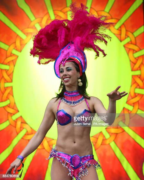 A samba dancer on the main stage of Ireland's largest boutique music festival The Electric Picnic which opens today The festival features acts...