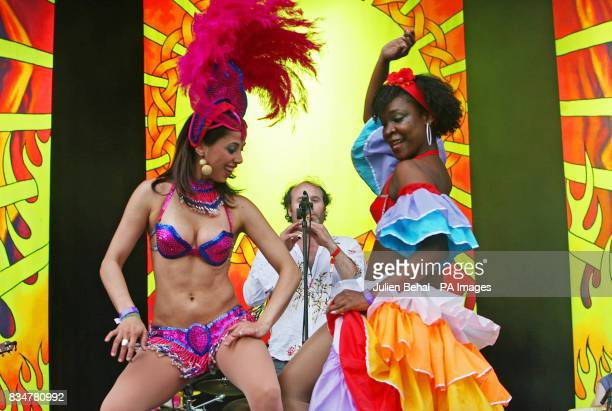 Samba dancers on the main stage of Ireland's largest boutique music festival The Electric Picnic which opens today The festival features acts...