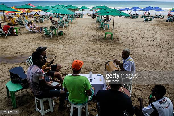 A samba group takes advantage Saturday at the Boa Viagem beach in Recife northeastern Brazil December 3 2016