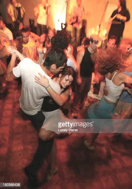 Samba music and dancing in club around Lapa.