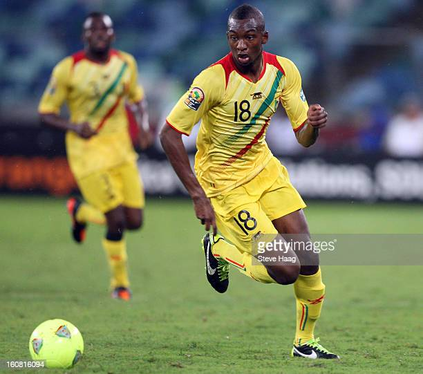 Samba Sow of Mali during the 2013 African Cup of Nations SemiFinal match between Mali and Nigeria at Moses Mahbida Stadium on February 06 2013 in...
