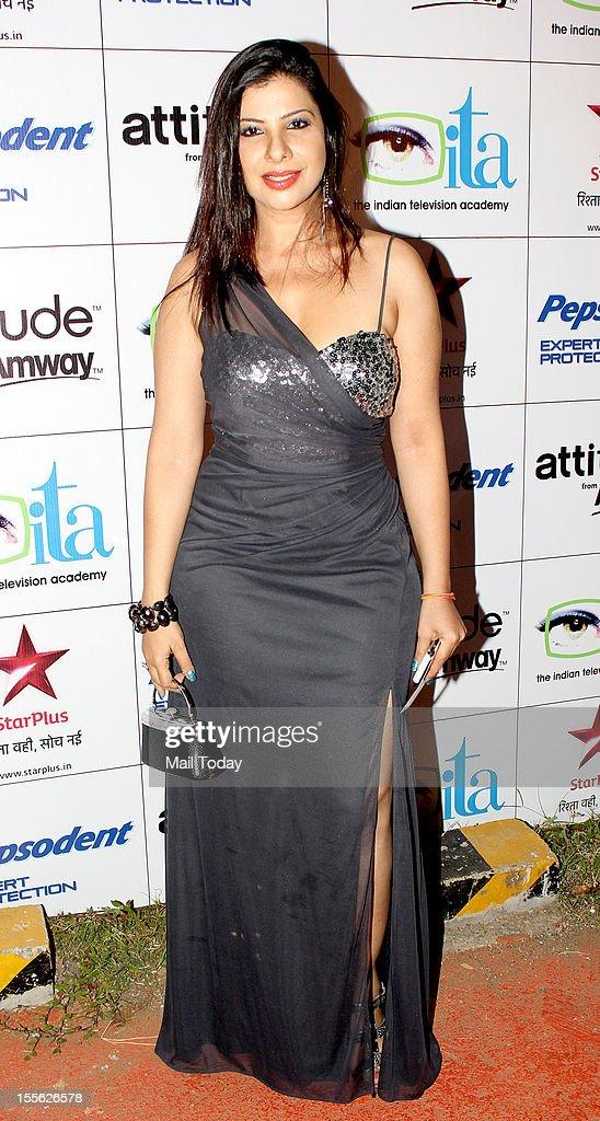 Sambhavna Seth during Indian Television Academy Awards 2012 (ITA Awards), held in Mumbai on November 4, 2012.