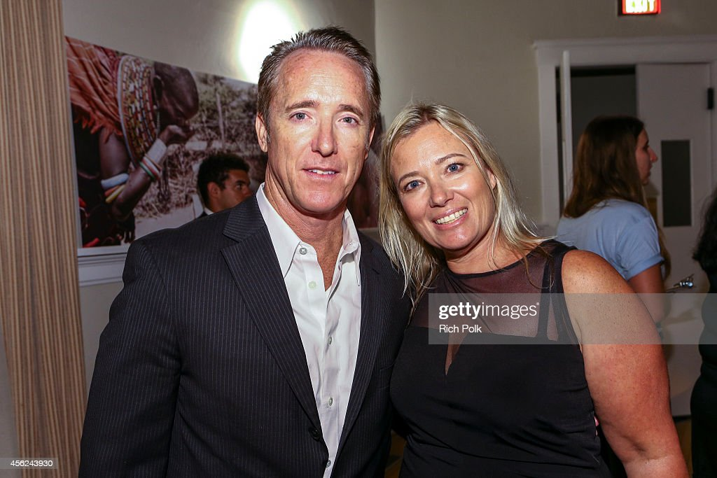 Samburu Splash Bash Host Geyer Kosinski and The Samburu Project's founder Kristen Kosinski arrive at the Samburu Splash Bash Event on September 27...