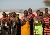 Samburu women in Kenya on July 13 2009 The Samburu are closely related to the Maasai Like the Maasai they live in the central Rift Valley in Kenya...