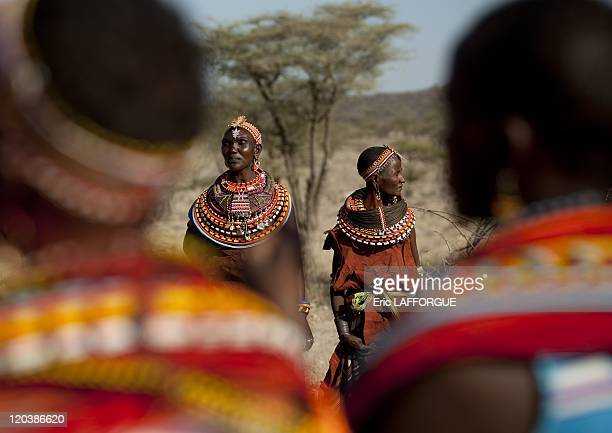 Samburu women in Kenya on July 13 2009 The Samburu are closely related to the Maasai Like the Maasai they live in the central Rift Valley in Kenya...