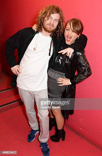 Same Old Sean and Jaime Winstone attend the launch of Same Old Sean's new EP 'Reckless' at Cafe KaiZen on November 13 2014 in London England
