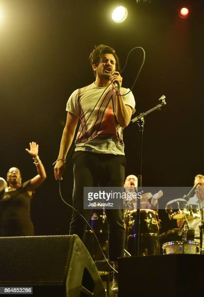 Sameer Gadhia of Young the Giant performs during Soul Bugs Superjam The DapKings play The Beatles at Piestewa Stage during day 2 of the 2017 Lost...