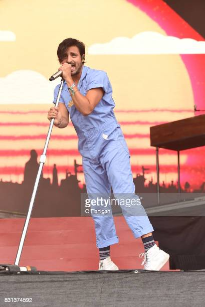 Sameer Gadhia of Young the Giant performs during the 2017 Outside Lands Music and Arts Festival at Golden Gate Park on August 13 2017 in San...